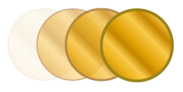 gold style mirror