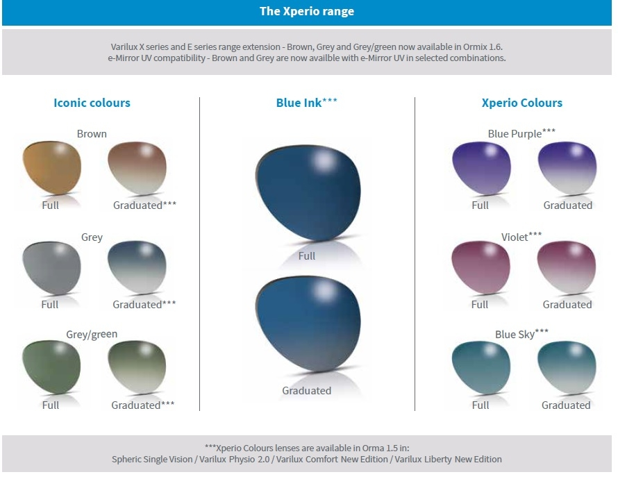 Polarizing Sunglass Lens Colours from Posh Eyes